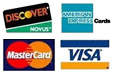 We Accept AMEX, Visa, MasterCard and Discover.