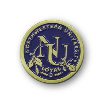 university pins Antique-bronze-finish