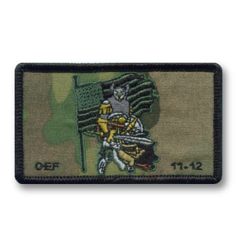 custom multicam woven patches