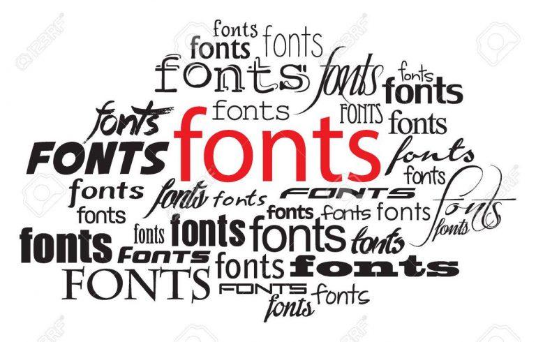 fonts for labels