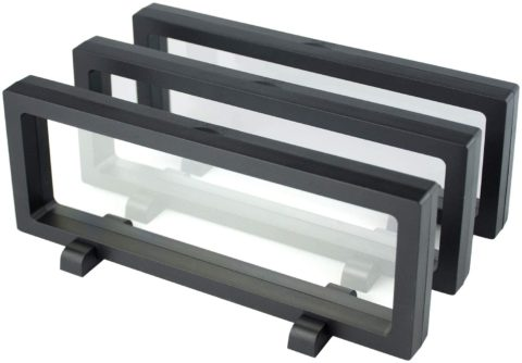 3D Floating Frame Display Holder Stands Holder Suspension Frame for Challenge Coin - 4 Coins