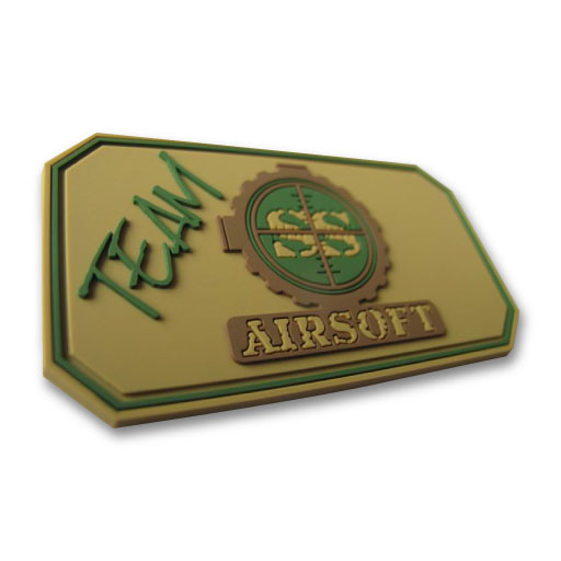 Airsoft SS Team 2D PVC Patch