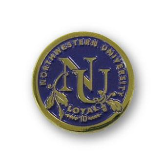 university lapel pin finishes-gold