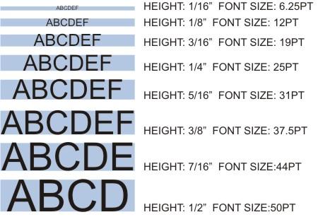 FontSizes
