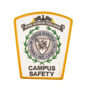Pine Manor College Campus Safety, 50% Embroidered Patch