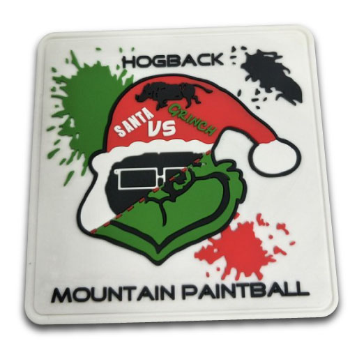 paintball pvc rounded patch