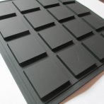 black soft rubber pvc labels