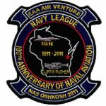 navy laser cut embroidered patch
