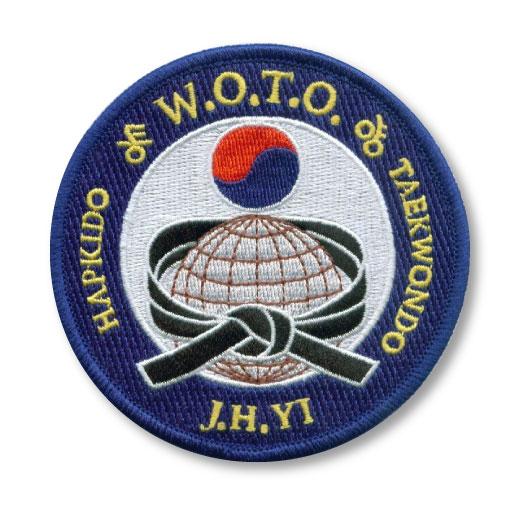 Taekwondo embroidered patch