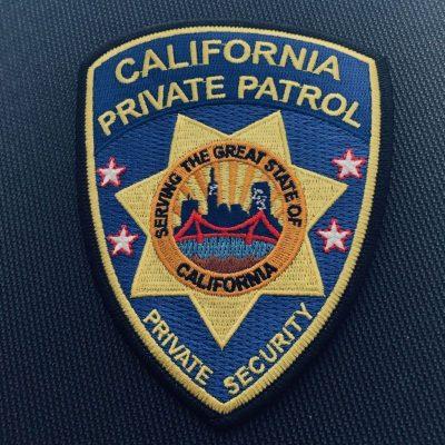 california private patrol patch