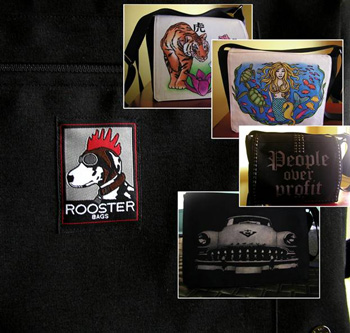 Labels for Handbags: Rooster Bags