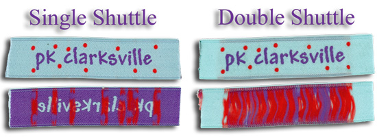 Single vs Double Shuttle - Woven Tags
