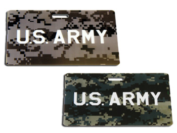 Military luggage tags ...