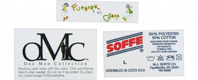 furniture woven labels