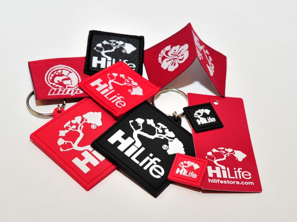 Full Branding: Labels, Hangtas, Keychains for HiLife – Living the Aloha Way