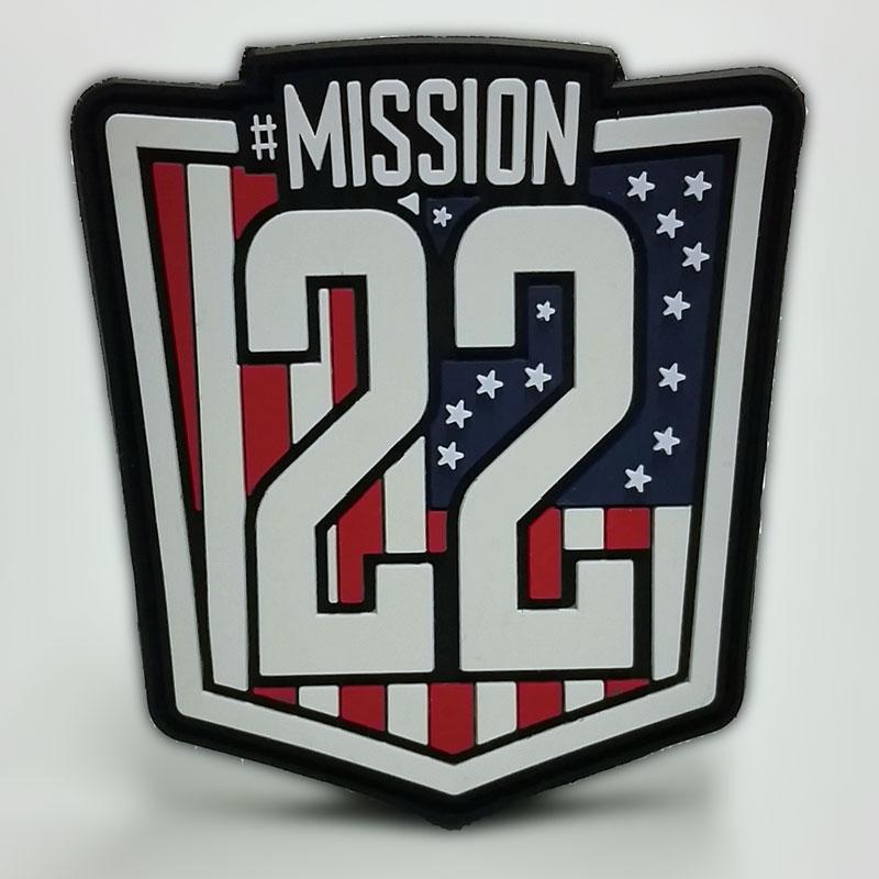 Mission 22 PVC Patches