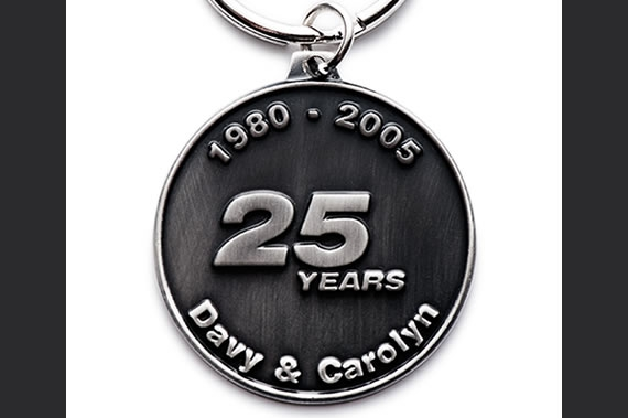 25-Years-metal-keychain