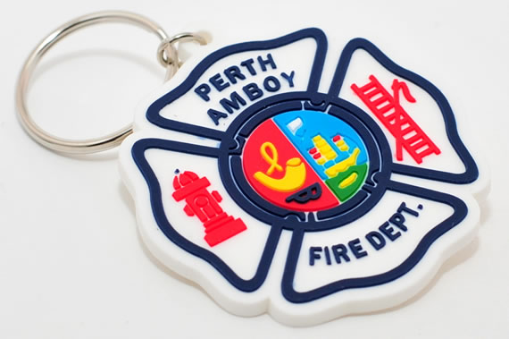 perth fire department rubber keychain