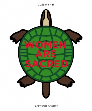 Women are Sacred Woven Sticker