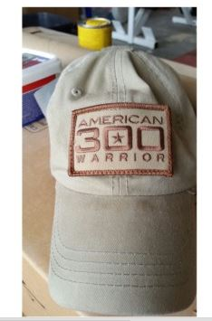American 300 on hat