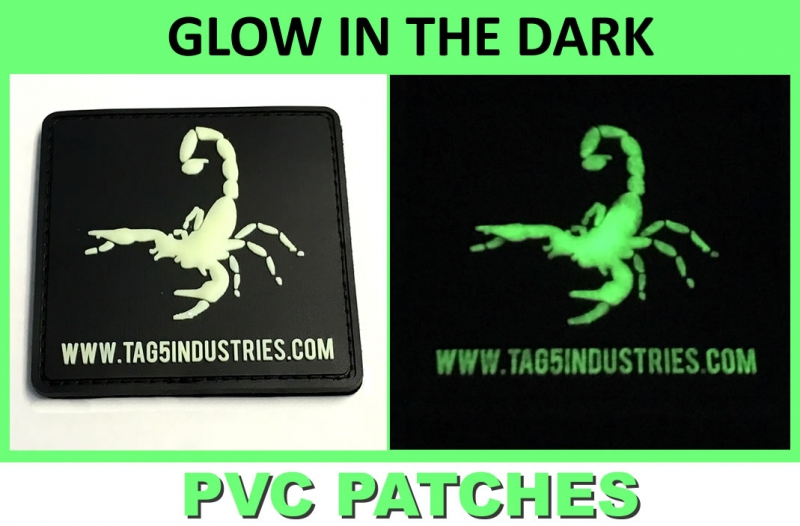 Custom Glow in the Dark PVC Patches – G.I.D. Patches