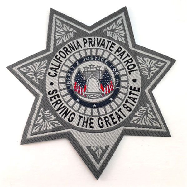 california private patrol  sheriff woven badge