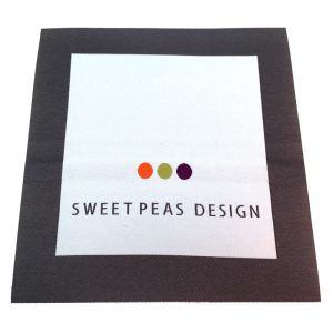 sweet peas design woven labels