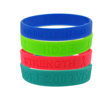 custom debossed silicone wrist bands