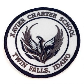 Xavier Charter School - Twin Falls Idaho 50% Coverage Embroidered Patch