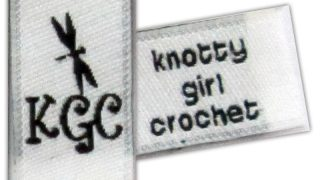 Knotty Girl Crochet Woven Labels