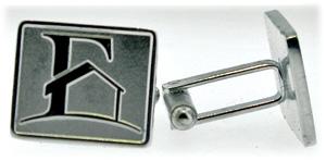 custom silver cuff links - promotional