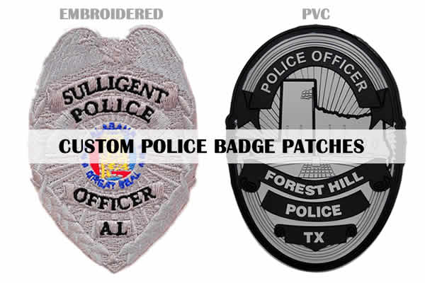 custom police badge-patches