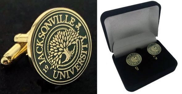 custom university cufflinks with velvet box
