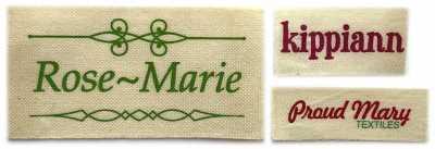 custom printed cotton labels