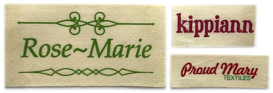 iron on printed cotton labels