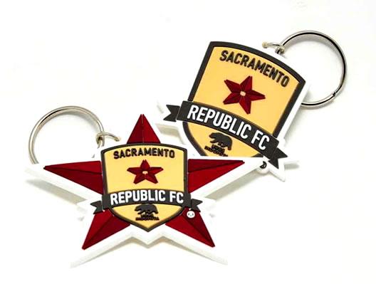 custom soccer keychains