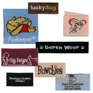 dog-woven-labels-group
