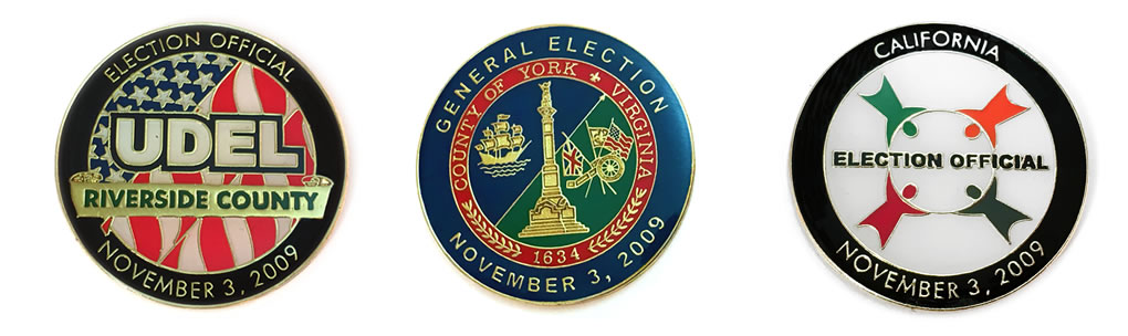 election official pins