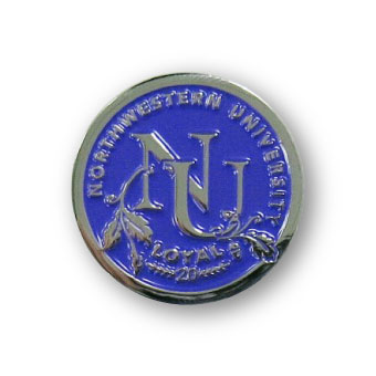 college lapel pin finishes-chrome
