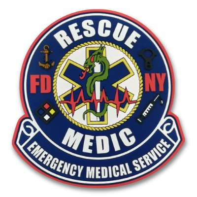 EMS Patch with Start of Life and Rod of Asclepius