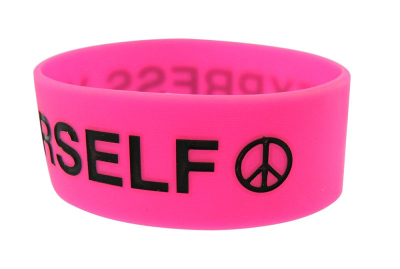 express yourself silicone wristband