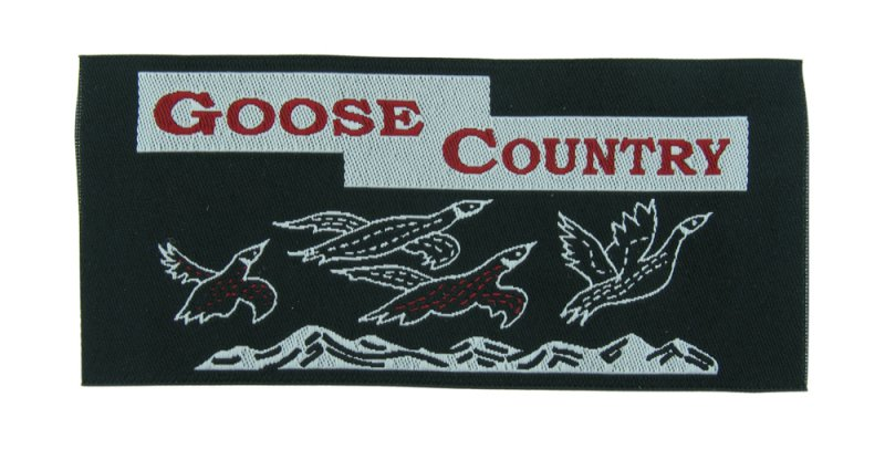 goosecountry woven label