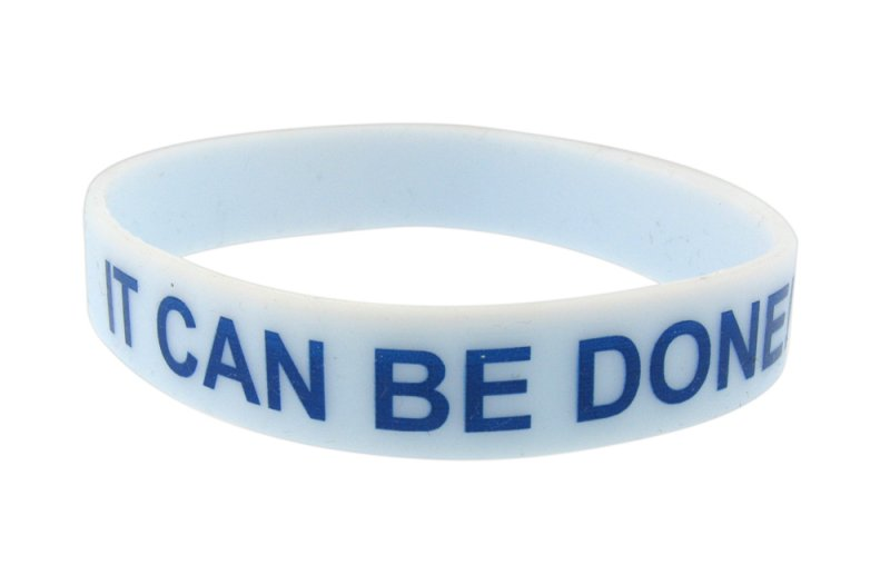 it can be done silicone bracelet