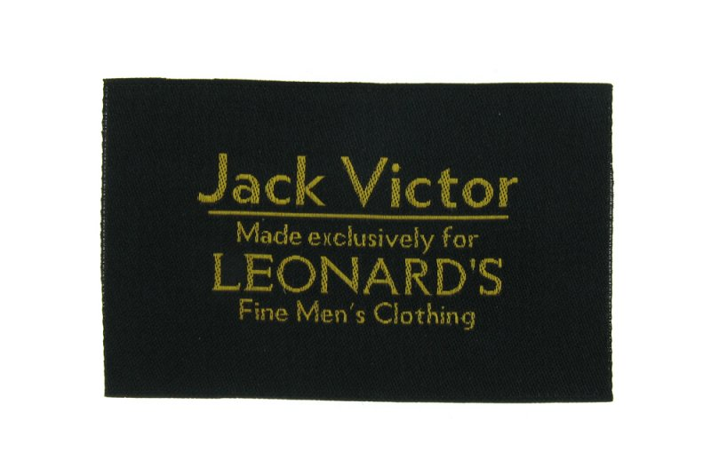 Jack Victor Woven Clothing Label
