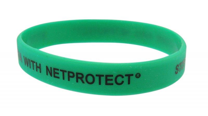 netprotect silicone wristband