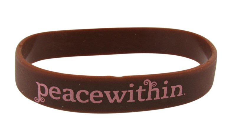 peacewithin silicone bracelet