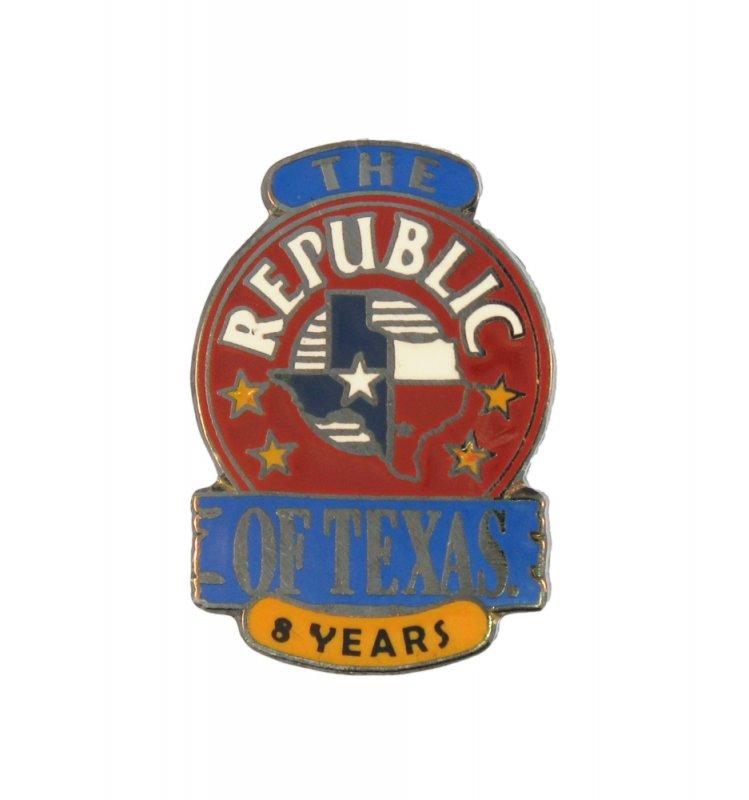 republic of texas enamel pin