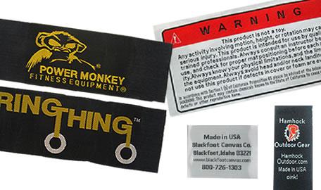custom taffeta woven labels