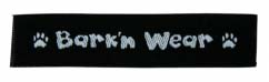 bark in wear woven label