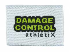 Damage Control Woven Label t-shirt tag